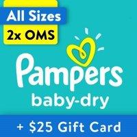 两箱送$25礼卡 单片$0.13起 Pampers 全系列婴儿纸尿裤热卖,收Swaddlers
