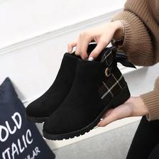 马丁靴女英伦风年秋季新款百搭棉鞋子女加绒短靴冬季 59.9元