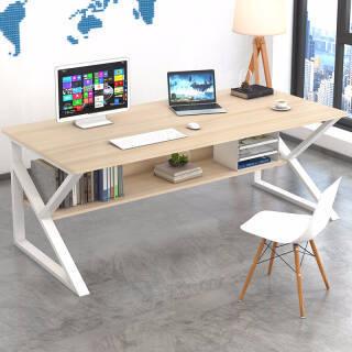 蔓斯菲尔电脑桌台式书桌办公桌子学习桌 140x60CM枫樱木 108.7元