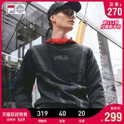 FILA旗下高端潮流品牌 FILA FUSION 男女款V字串标套头卫衣 169元双11预售到手价 尾款前111件半价后'