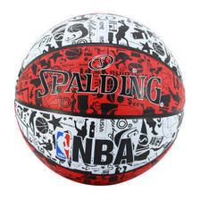 斯伯丁SPALDING 篮球NBA涂鸦lanqiu室外耐磨7号橡胶蓝球83-574Y 59.29元
