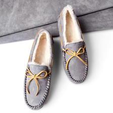 考拉海购黑卡会员: Ozwear 女士羊皮毛一体豆豆鞋 225+21.39含税包邮