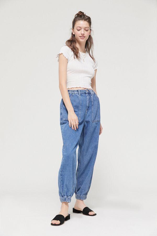 折合146.93元 BDG Luca High-Waisted Jogger 女士牛仔裤