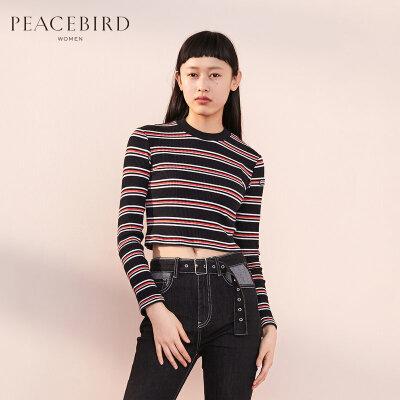 PEACEBIRD 太平鸟 AWDC84204 女士条纹针织衫 *3件 179.4元包邮(合59.8元/件)