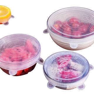 京东PLUS会员:美之扣 6个装硅胶保鲜盖 万能碗盖 冰箱保鲜膜盘碟盖保鲜膜密封重复使用 透明 *3件 88.32元(合29.44元/件)