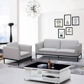 赢寸间 办公沙发1+1+3组合沙发接待会客沙发简约皮艺沙发 2760元