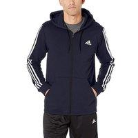 $24.00(原价$30.00) 码全 adidas 三条杠经典款男子运动拉链外套 深蓝色