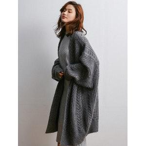 畅彩 女秋冬羊毛混纺 长款毛衣外套 149元包邮 平常269元