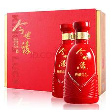 京东PLUS会员: 今世缘 白酒 典藏15 浓香型 41.8度 500ml*2瓶 赠礼品袋 中秋送礼