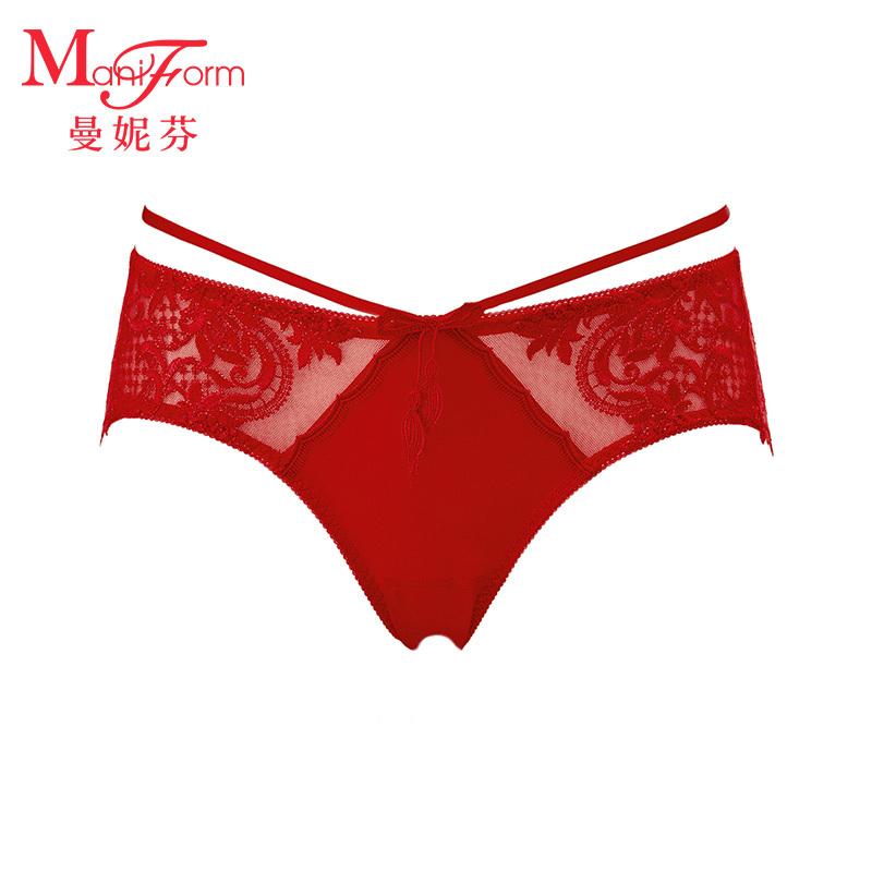 ManiForm 曼妮芬 20610677A 女士蕾丝内裤 *5件 378.25元(合75.65元/件)