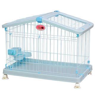 爱丽思高档通用宠物笼开盖开门便利四轮移动安全HCA-800蓝色 298元