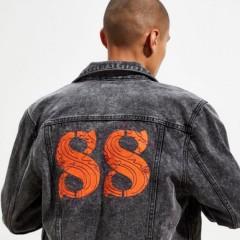 【双11】GUESS x 88rising 联名 Denim 牛仔机车外套