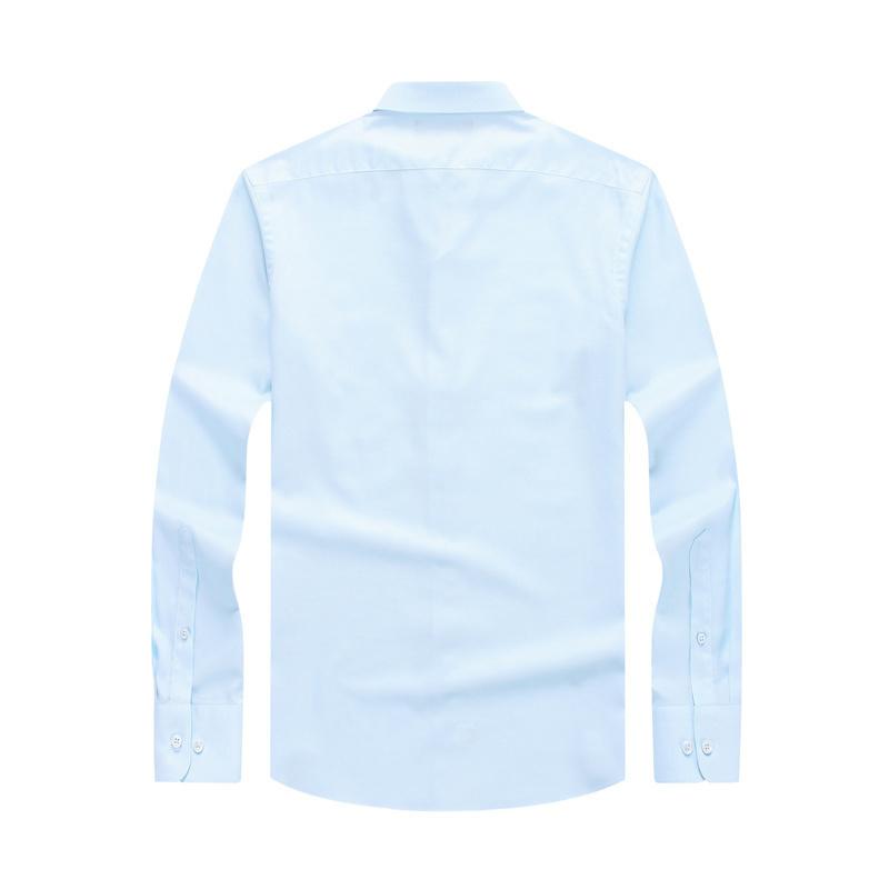 Youngor/雅戈尔新款秋季免烫棉商务衬衣口袋职业装衬衫男修身8040 429元