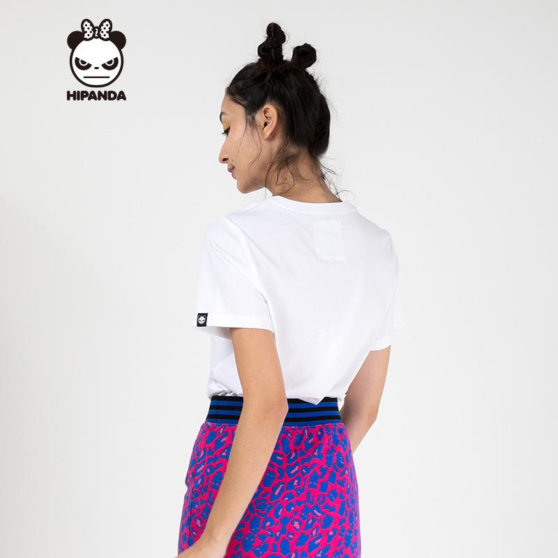 Hipanda 你好熊猫 设计潮牌 女款 星星飞镖T恤 119元