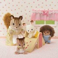 $4.98(原价$19.95)史低价:Calico Critters 森贝尔家族 婴儿房20件套装玩具