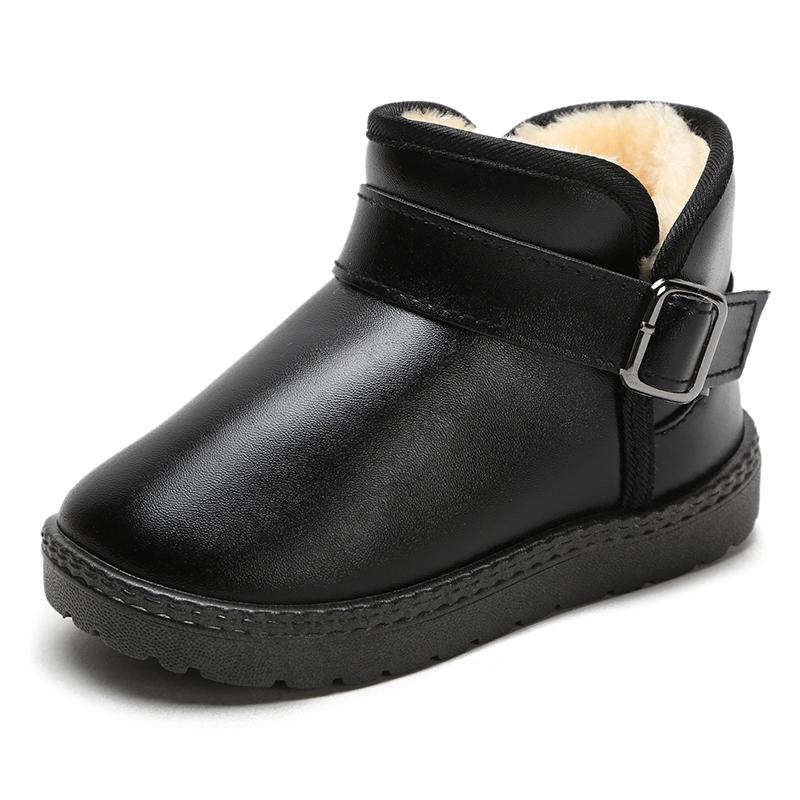 儿童雪地靴女童冬季加绒防水短靴  券后19.9元
