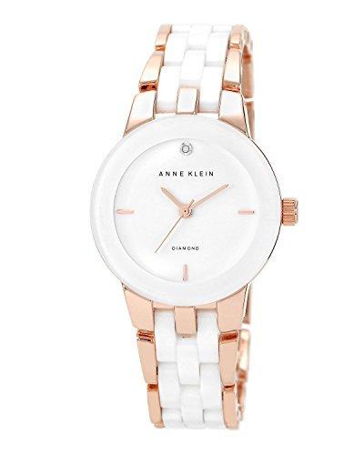 ¥264.38 Anne Klein AK/1610WTRG 白/玫瑰金色 女士手表