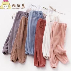 儿童暖暖裤 绒加厚珊瑚绒打男女童裤子 16.8元包邮