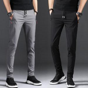 夏季薄款 纯棉休闲弹力运动裤男 47元包邮 折合23.5元/条