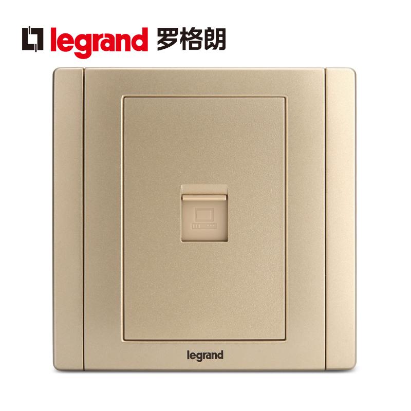 tcl罗格朗开关插座面板美涵金色一位电脑墙壁电源86型 *3件 81.21元(合27.07元/件)