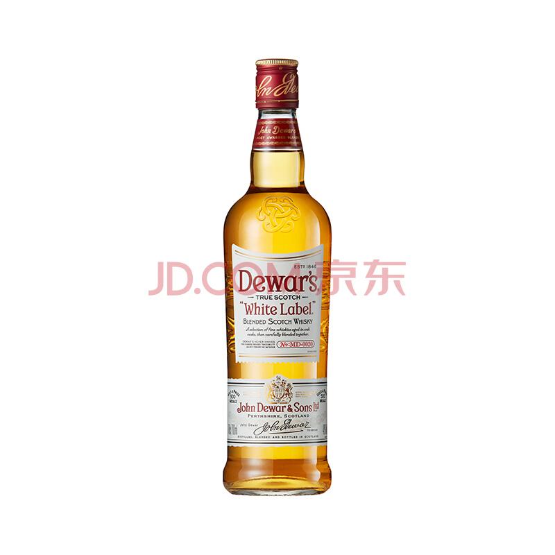 Dewar's 帝王 白牌 调配苏格兰威士忌 750ml *5件 255元包邮(双重优惠)