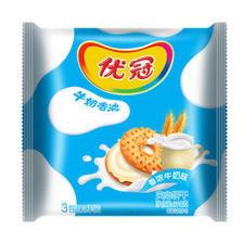 优冠牛奶特浓夹心饼干牛奶味390g(新老包装随机发货) *17件 72.3元(合4.25元/