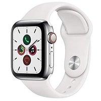 $699(原价$749) 40mm仅$649最新款 Apple 5系手表 金色不锈钢表盘+运动型表带 44mm