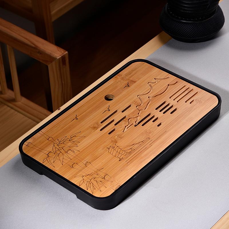 ¥5.9 澜扬 简约茶盘 方形 20cm 2色可选
