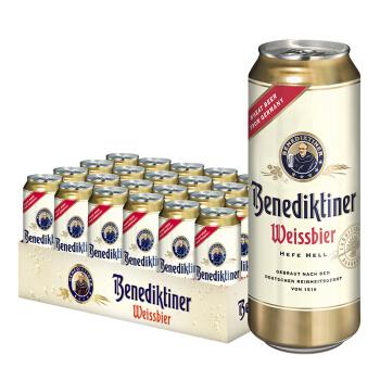 Benediktiner 百帝王 小麦啤酒 500ml*24听 *2件 250.4元