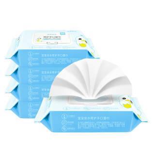 宝宝金水 婴儿湿巾 宝宝手口湿巾 80抽*5包 *6件 58.4元(合9.73元/件)