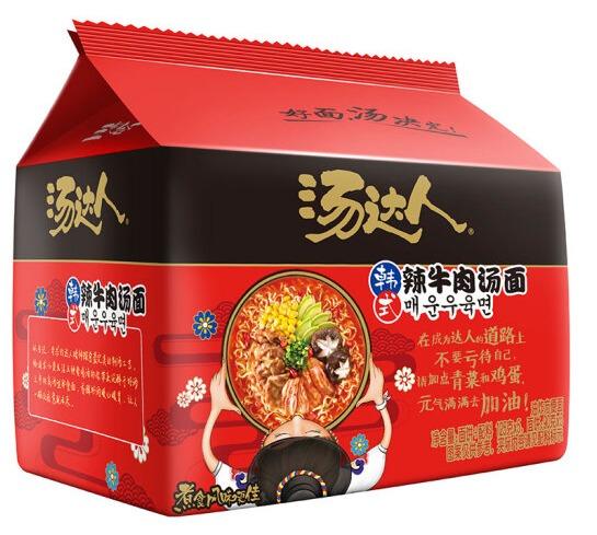 统一 汤达人 韩式辣牛肉汤面 125g*5包 14.9元
