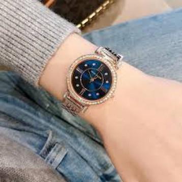 Anne Klein安妮克莱因 AK/2928NVRG 施华洛世奇水晶玫瑰金手镯手表 5.7折 直邮中国 ¥228.24