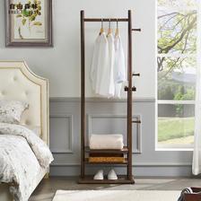 实木衣帽架挂衣杆落地卧室挂衣架北欧简约现代家用门厅木质衣服架 628元