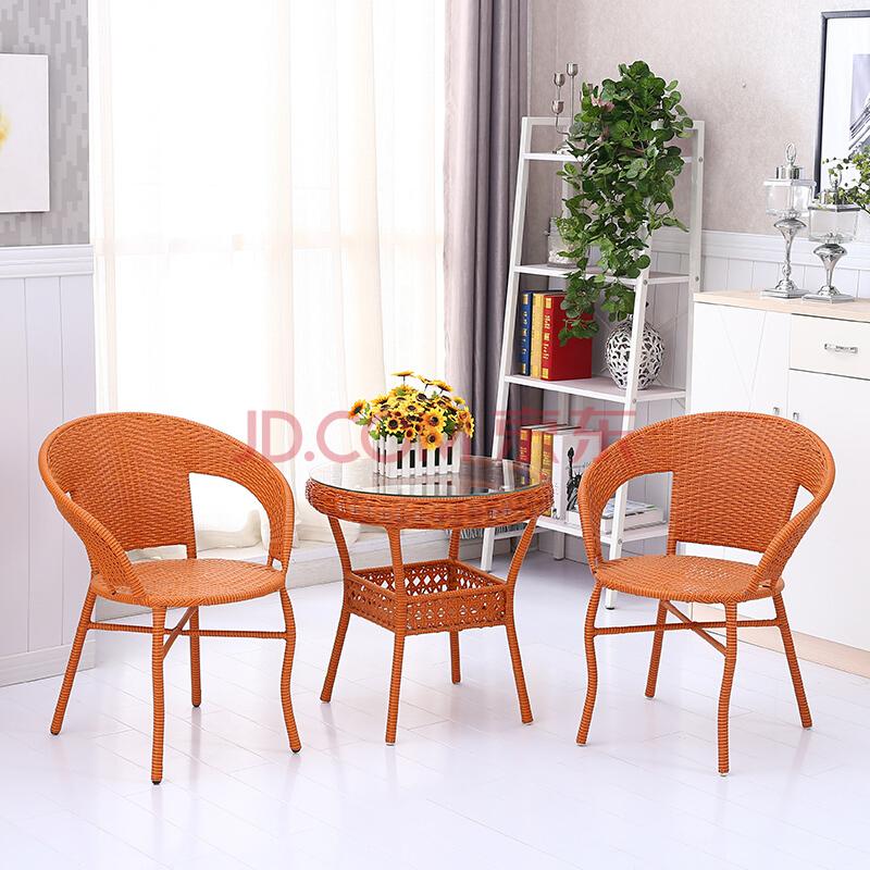 京好 藤椅子茶几五件套装(含1桌4椅) 611.2元包邮