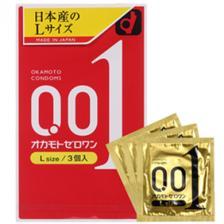 新版冈本001超薄避孕套 大号L码 3个装 7.3折 JPY¥705(¥37)