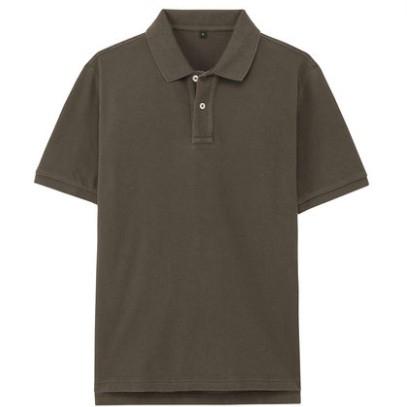 MUJI 无印良品 M8SB712 男式棉珠地网眼POLO衫 89元