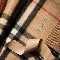 无门槛7.5折+直邮全球 Burberry 经典格纹围巾、美包等热卖