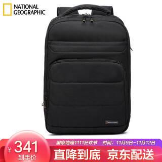国家地理National Geographic双肩包女电脑包男15.6英寸多功能大容量书包商务休闲背包 黑色 221.65元