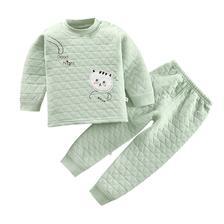 口袋虎 儿童夹棉内衣套装 24.9元包邮