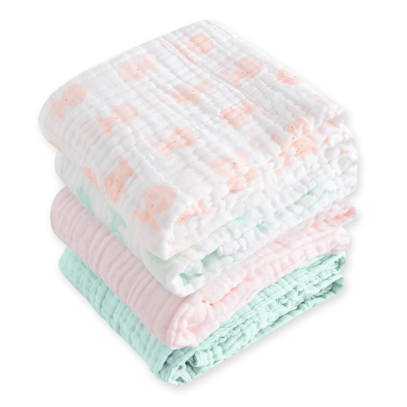 gb 好孩子 四层纱布浴巾抱被 2条装 119元