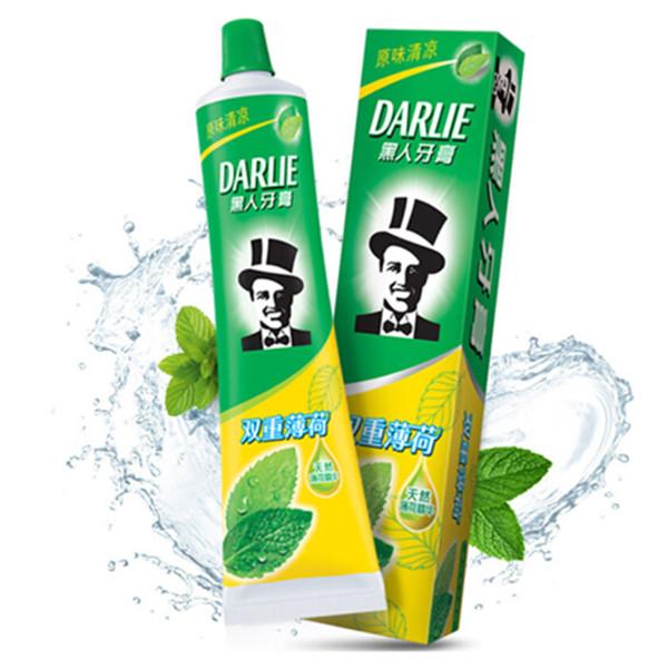 黑人(DARLIE)双重薄荷清新口气牙膏225g 16.8元(2件7折)