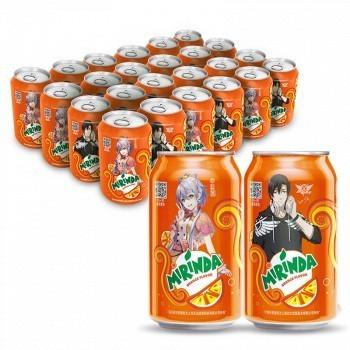 美年达 橙味汽水 330ml*24罐*2件