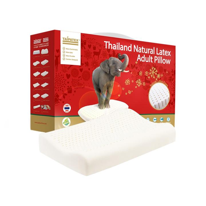 网易考拉黑卡会员: TAIPATEX 泰国天然乳胶枕头 透气 219.3元包邮