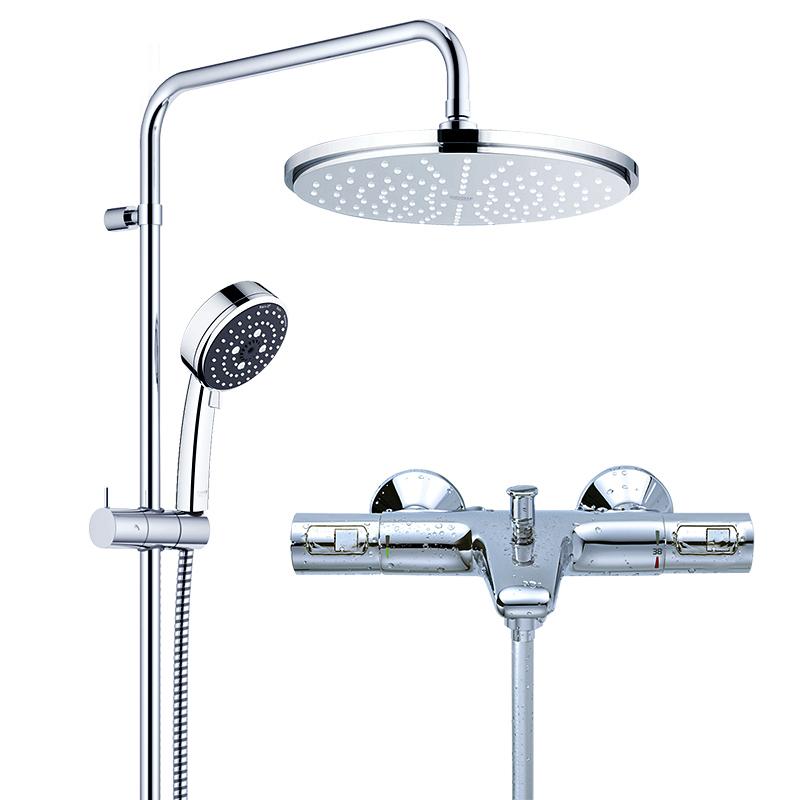 双11预售: GROHE 高仪 26094+34598 瑞雨进口双花洒淋浴套装 带下出水 2248元包邮(需20定金,11月1日付尾款)