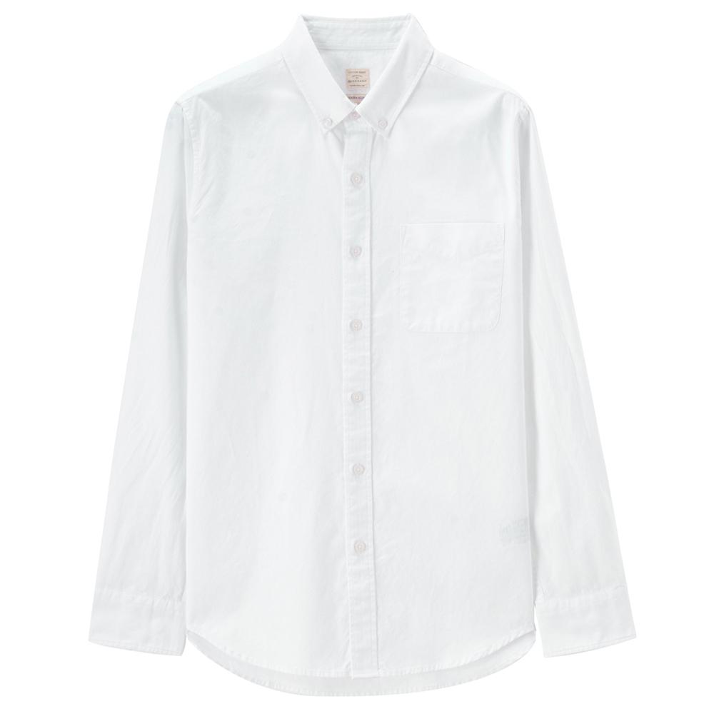 佐丹奴男士衬衫纯棉牛津纺衬衫男长袖男上衣修身商务衬衣01048015 69.9元