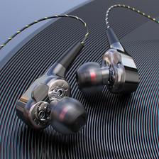 HiFi音效 四核双动圈重低音耳机 券后19.9元