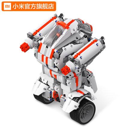21日0点: MI 小米 米兔积木机器人 履带版 399元包邮,前2小时送沙漠赛车