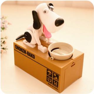 古莎 偷钱猫储蓄罐 黑白狗送电池/贴纸 44元