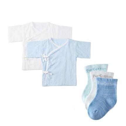 21日0点、双11预售:PurCotton 全棉时代 纯棉纱布婴儿服 长款2件+短款2件 低至82元 ¥82