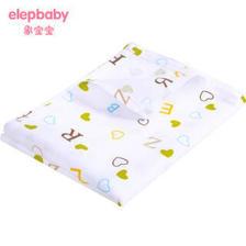 象宝宝(elepbaby)婴儿全棉床单幼儿园儿童床婴儿床床单140*90cm(字母豆丁白